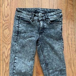 High wasted dark skinny jeans